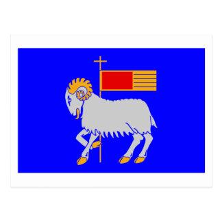 Gotlandsのlänの旗 葉書き
