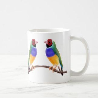Gouldianのフィンチのマグ コーヒーマグカップ
