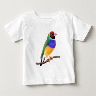 Gouldianのフィンチ ベビーTシャツ