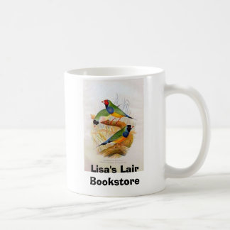 Gouldianの3匹のフィンチの本屋の広告宣伝 コーヒーマグカップ