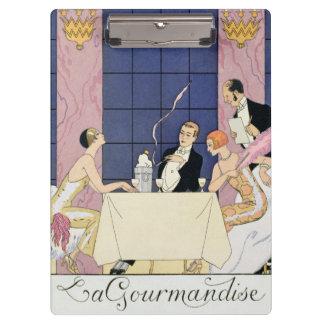 Gourmands 1920-30年(pochoirのプリント) クリップボード
