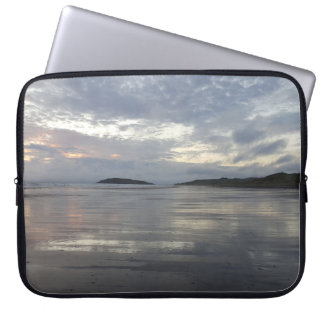 Gower半島のビーチのラップトップスリーブの反射 ラップトップスリーブ