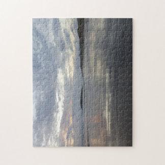 Gower半島のビーチの写真のパズルの反射 ジグソーパズル