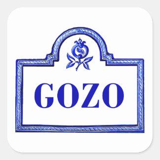 Gozoのグラナダの道路標識 スクエアシール