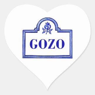 Gozoのグラナダの道路標識 ハートシール
