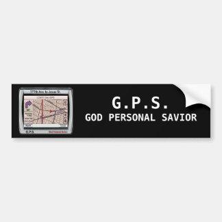 GPSの神の個人的な救助者 バンパーステッカー