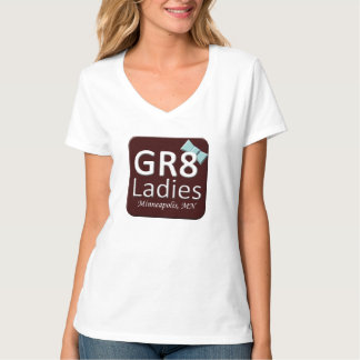 Gr8Ladies MSPのTシャツのV首 Tシャツ