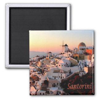 GR -ギリシャ- Santorini Thera - Oiaの日没 マグネット