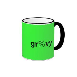 gr%vyおよびB3テキストメッセージのマグ リンガーマグカップ