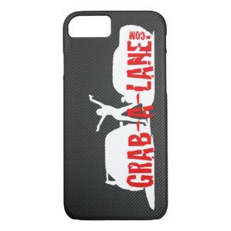 GRAB-A-LANEの元のロゴのiPhone 7の場合- White/CF iPhone 8/7ケース