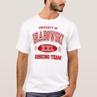 Grabowskiのポーランド人の飲むチームTシャツ Tシャツ