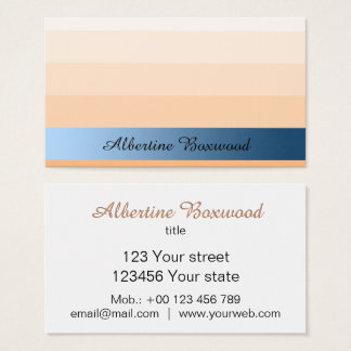 Gradient Peach with Blue Banner Custom Text 名刺