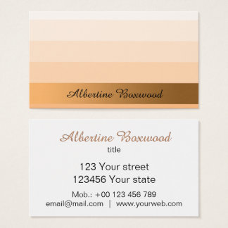 Gradient Peach with Golden Banner Custom Text 名刺