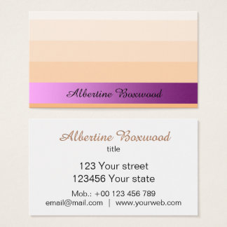 Gradient Peach with Pink Banner Custom Text 名刺