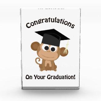 Graduatationあなたの猿のお祝い 表彰盾