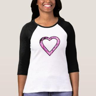 Graffittiのハート(ピンク) Tシャツ