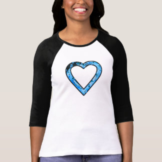 Graffittiのハート(青い) Tシャツ