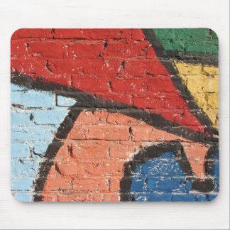 Graffittiの抽象的な壁 マウスパッド
