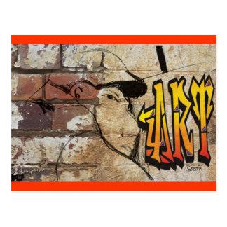 Grafitiの芸術家 ポストカード