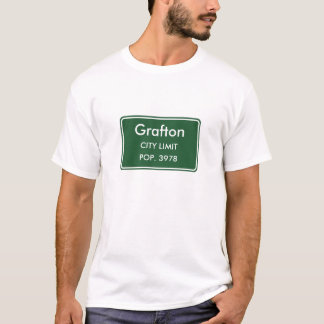 Graftonノースダコタの市境の印 Tシャツ