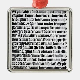 「Grammaire Latineのページ メタルオーナメント