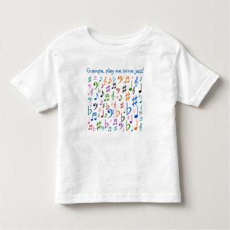 Grampaは、私をジャズ演じます! トドラーTシャツ