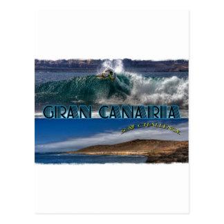 Gran Canariaの波の挑戦 ポストカード