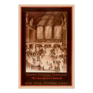 Grand Central Terminal Vintage Poster ポスター