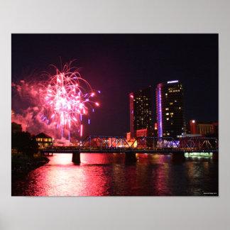 Grand Rapidsの花火 ポスター