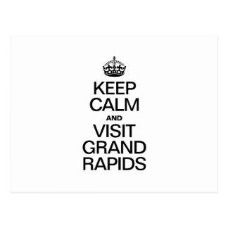 GRAND RAPIDS穏やか、訪問保って下さい ポストカード