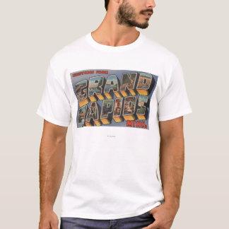 Grand Rapids、ミネソタ-大きい手紙場面 Tシャツ