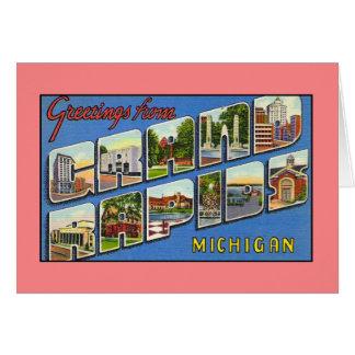 Grand Rapids MIからのヴィンテージの挨拶 カード