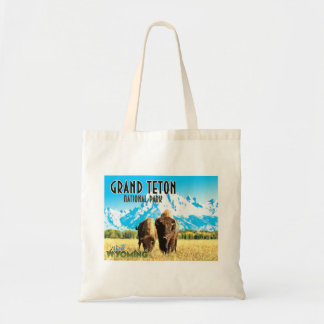 Grand Teton Park Wyoming Vintage Travel Tote Bag トートバッグ