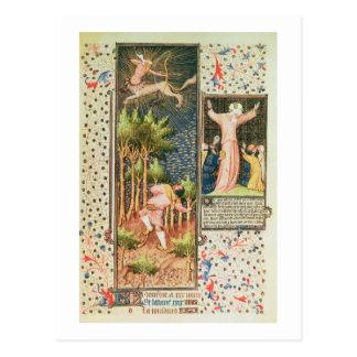 Grandes Heures dからの大石柱9471 f.16r 11月、 ポストカード
