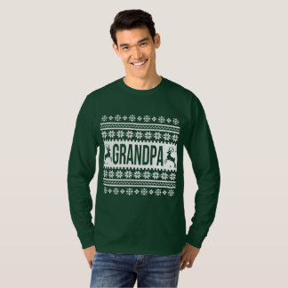 Grandpa Ugly Christmas Sweater Tシャツ