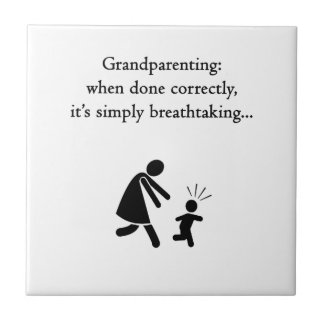 Grandparentingは息もつけないほどです タイル