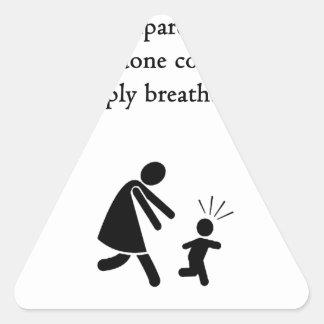 Grandparentingは息もつけないほどです 三角形シール