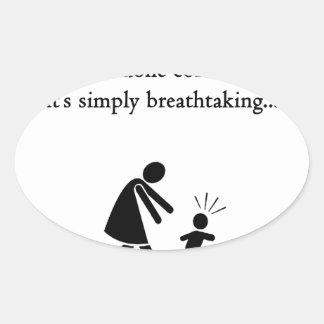 Grandparentingは息もつけないほどです 楕円形シール