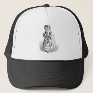 Grandville人間の形をした猫のイラストレーションの帽子 キャップ