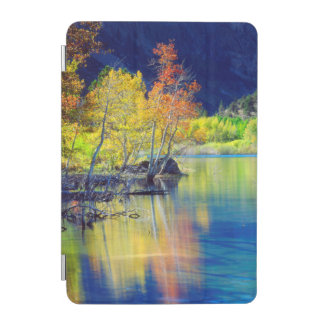 grant湖に反映する秋の《植物》アスペンの木 iPad miniカバー