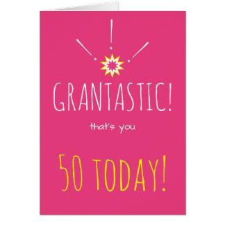 "Grantastic!  おばあさんへの幸せな""年齢""の誕生日 カード"