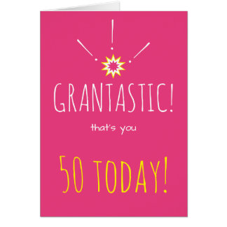 "Grantastic!  おばあさんへの幸せな""年齢""の誕生日 グリーティングカード"