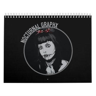 Graphx夜の2016のカレンダー カレンダー