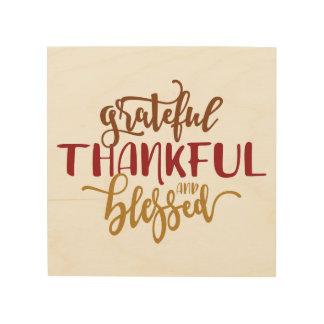 Grateful Thankful Blessed Wood Wall Art ウッドウォールアート