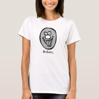 *Grayスマイリーフェイス(幸せがあって下さい) Tシャツ