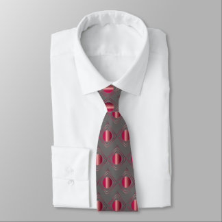 Gray & Red Boxed In Tie オリジナルネクタイ