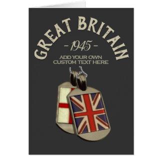 Great Britain English Dog Tags Custom カード