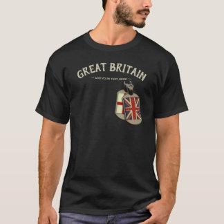 Great Britain English Dog Tags Tシャツ