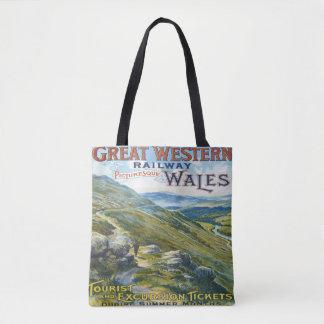 Great Western鉄道旅行ヴィンテージのトートバック トートバッグ
