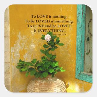 greekproverbInspirational愛引用文のギリシャ人の諺 スクエアシール
